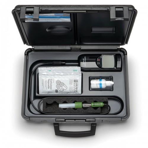 Hanna Instruments HI99171 портативный водонепроницаемый рН метр с плоским электродом HI1414D