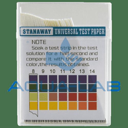 Индикаторная бумага pH тест полоски 100 шт. pH 0-14