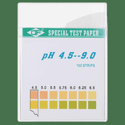 Индикаторная бумага pH тест полоски 100 штук pH 4.5 - 9