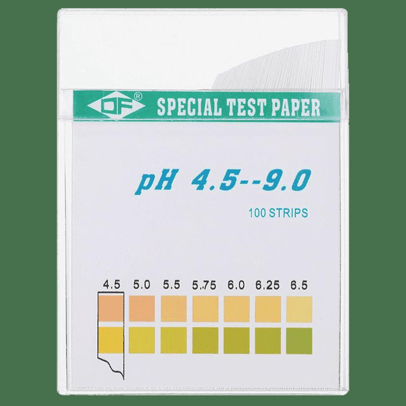 Индикаторная бумага pH тест полоски 100 штук pH от 5 до 9