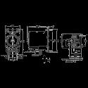 Пневматический мембранный насос Flojet G575205A для моющих средств (размеры)
