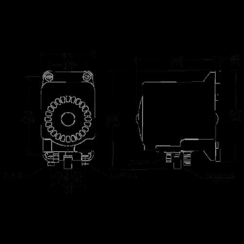 Пневматический мембранный насос Flojet G57C212A размеры