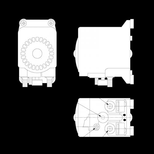Пневматический мембранный насос Flojet G80 G80E022A размеры