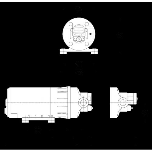 Мембранный насос Flojet Duplex II D3131H5011AR 12В размеры