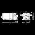 Насос для очистки и мойки палуб яхт Flojet R4325343 24В размеры
