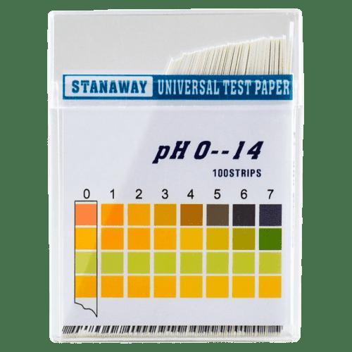 Индикаторная бумага pH тест полоски 100 штук pH от 0 до 14