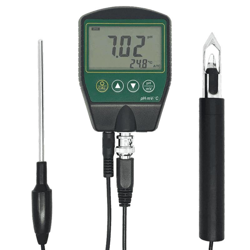 AMT16M pH/ОВП метр с проникающим щупом для мяса и сыра (рабочее состояние прибора)