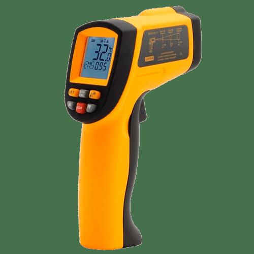 AMTAST AMF011A пирометр инфракрасный (50:1) от -18 до +1150°C вид сбоку