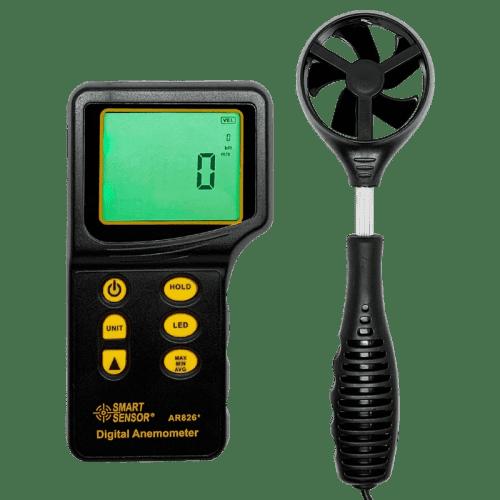 SMART SENSOR AR826 (портативный анемометр с выносным датчиком)