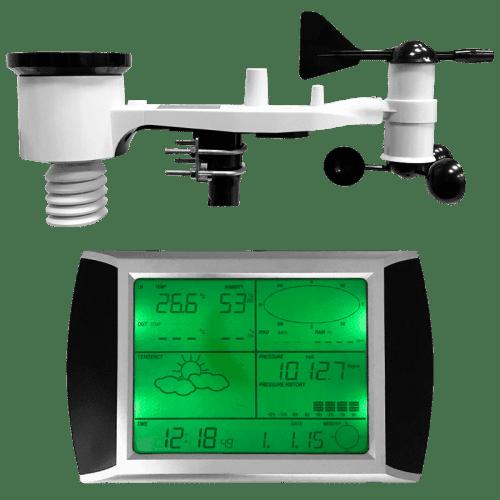 Профессиональная метеостанция AMTAST AW002 с беспроводными датчиками и сенсорным экраном