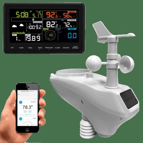 Метеостанция AMTAST AW006 с цветным дисплеем и беспроводной передачей данных Wi-Fi
