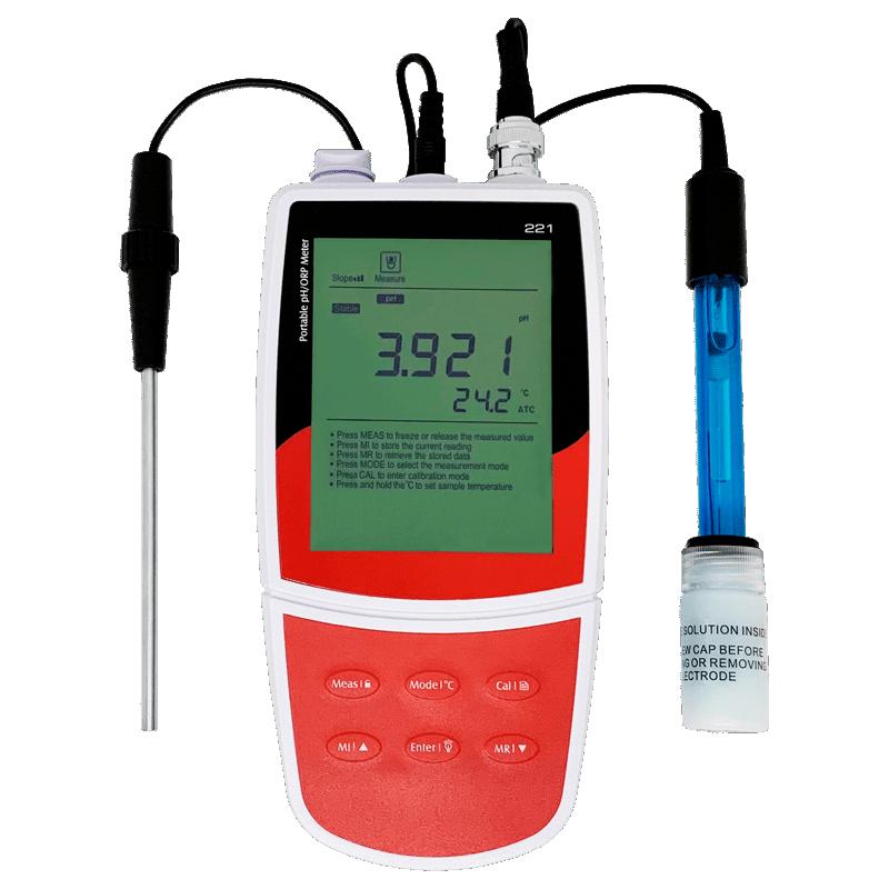 Портативный pH ОВП метр и термометр AMTAST PH-221