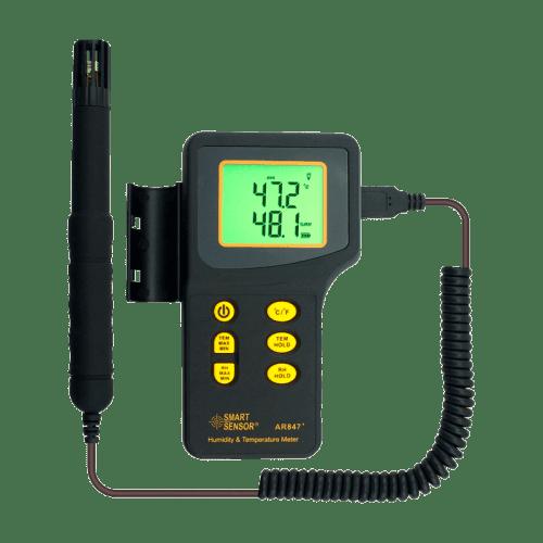 Цифровой термометр влагомер Smartsensor AR847 с выносным датчиком