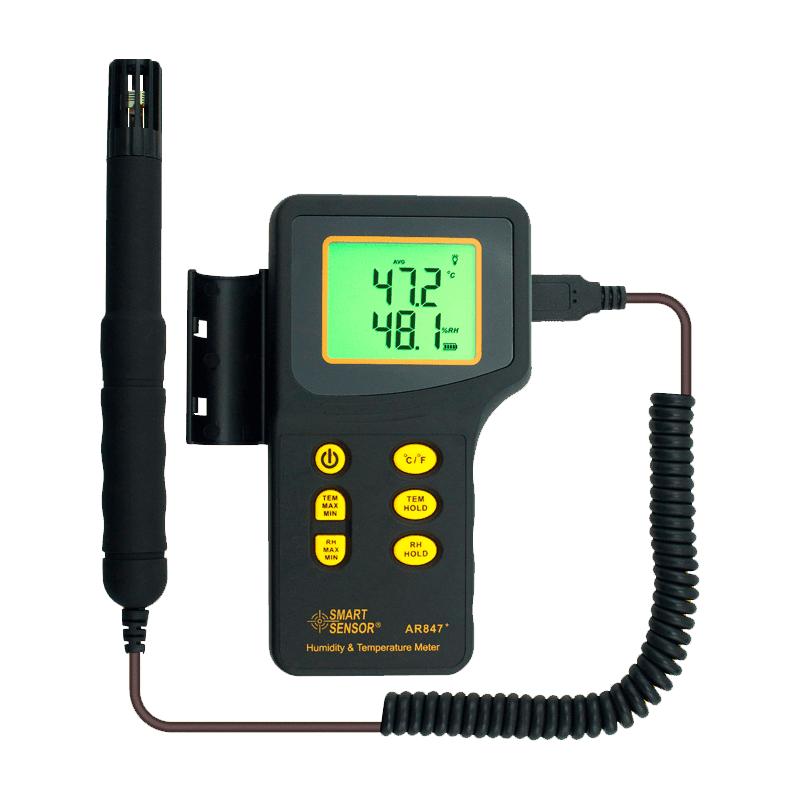 Smartsensor AR847 (цифровой термометр влагомер с выносным датчиком)