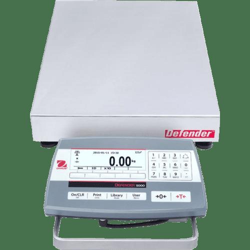 Промышленные платформенные напольные весы Ohaus Defender 5000 D51P15QR1