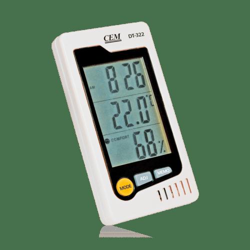 CEM DT-322 метеостанция, часы, измеритель температуры и влажности