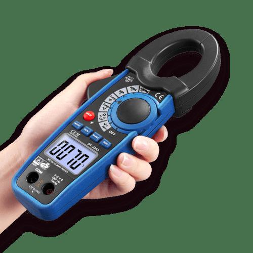 CEM DT-3340 токовые клещи (вид в руке)