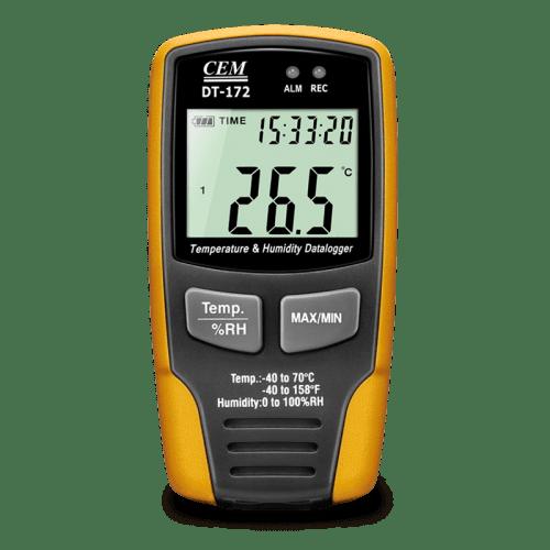 CEM DT-172 регистратор даталоггер температуры и влажности (дисплей)