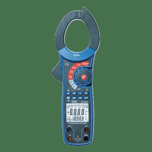 CEM DT-3353 токовые клещи с измерителем мощности (Госреестр)