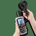 CEM DT-620 измеритель скорости воздуха и температуры (вид из рук)