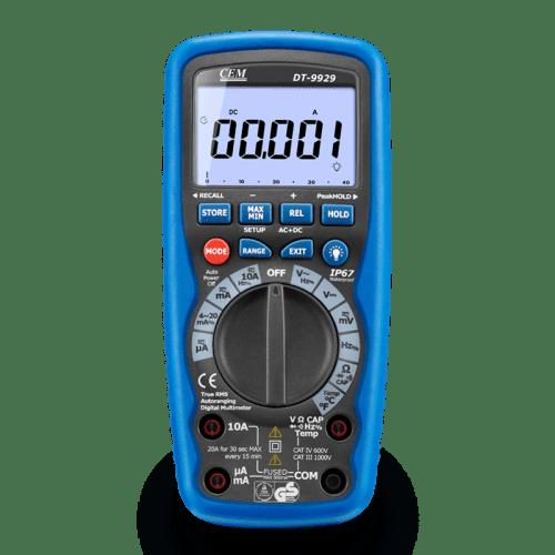 CEM DT-9939 мультиметр, беспроводной USB интерфейс (фронтальный вид)