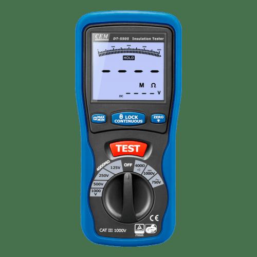 CEM DT-5505 цифровой тестер изоляции