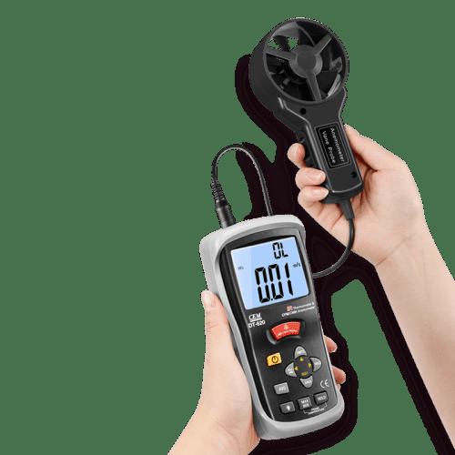CEM DT-619 измеритель скорости воздуха и температуры