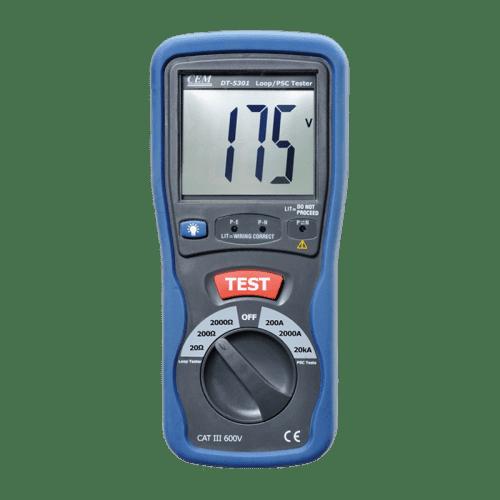 CEM DT-5301 измеритель R петли фаза-нуль и тока короткого замыкания