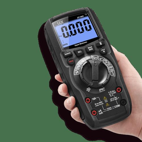CEM DT-965BT цифровой мультиметр (вид из руки)