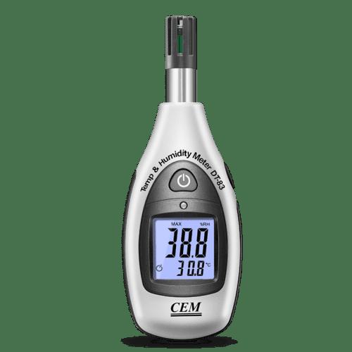 CEM DT-83 мини термометр с функцией влагомера (вид спереди)