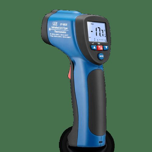 CEM DT-883 пирометр термометр (вид сбоку)