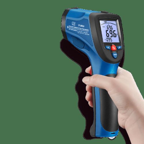 CEM DT-8868H профессиональный инфракрасный термометр (вид в руке)