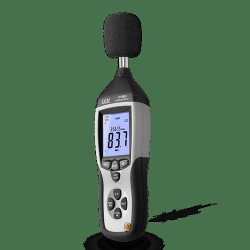 CEM DT-8852 шумомер цифровой с функцией регистратора (вид сбоку)