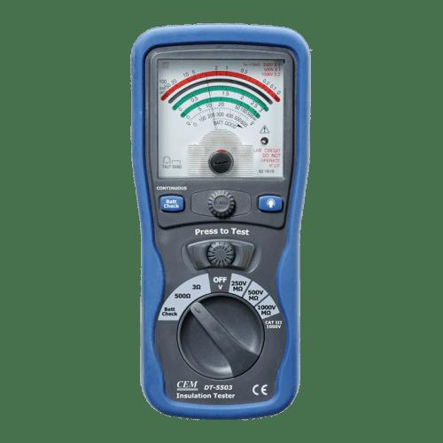 CEM DT-5503 аналоговый тестер изоляции и электропроводимости
