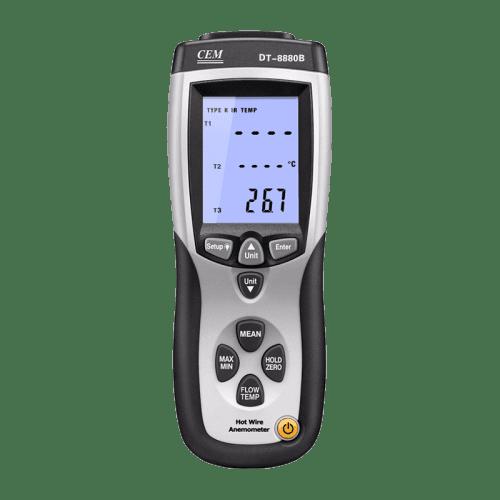 "CEM DT-8880 термоанемометр ""Нагретая струна"""