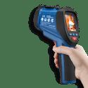 CEM DT-9862 пирометр высокотемпературный со встроенной камерой (вид из руки)