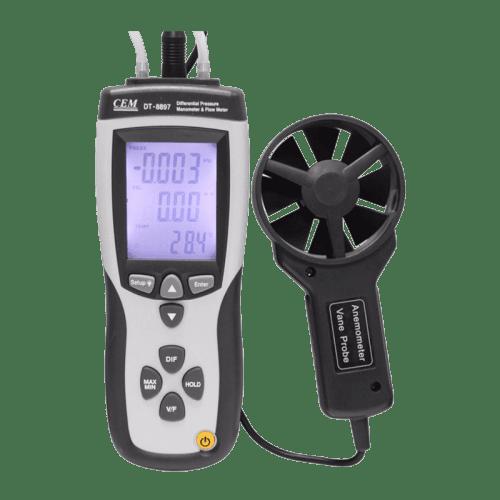 CEM DT-8897 дифференциальный манометр (с анемометром)
