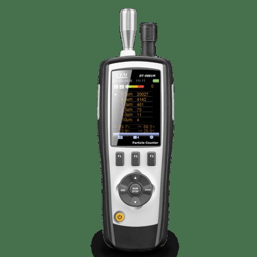 CEM DT-9880M счётчик пылевых частиц (вид спереди)