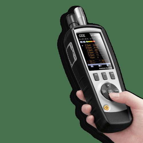 CEM DT-9880M счётчик пылевых частиц (вид из руки)