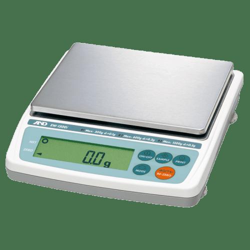 A&D EW-1500i лабораторные весы 300/600/1500 г х 0,1/0,2/0,5 г