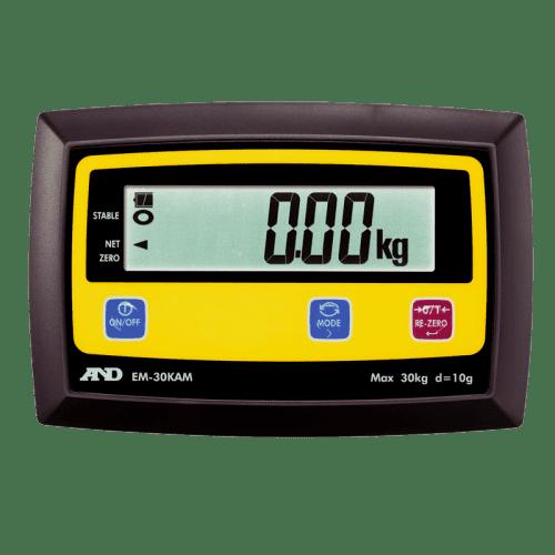 A&D EM-30KAM платформенные весы дисплей