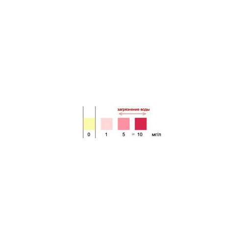 Биосенсор-Аква-Нитрит индикаторная бумага тест полоски 100 штук 0.0 – 10.0 мг/мл