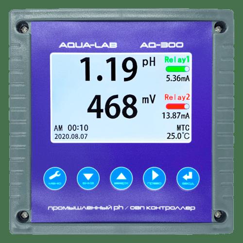 AQUA-LAB AQ-300 промышленный pH, ОВП метр контроллер 4-20mA (без электродов)