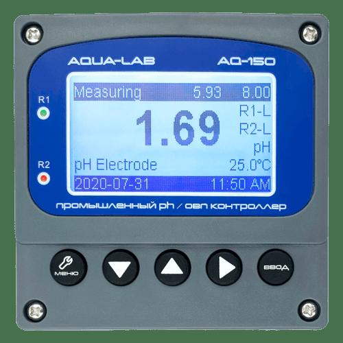 AQUA-LAB AQ-150 промышленный pH, ОВП метр контроллер 4-20mA (без электродов)