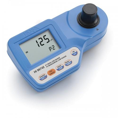 Hanna Instruments HI96742 фотоколориметр для определения концентрации марганца, 0-300 мкг/л, железа 0.00-1.60 мг/л (ГосРеестр)