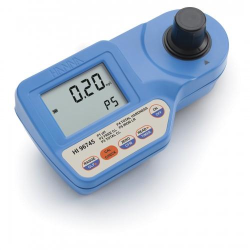 Hanna Instruments HI96745 колориметр для определения рН, железа, свободного и общего хлора, жесткости (ГосРеестр)