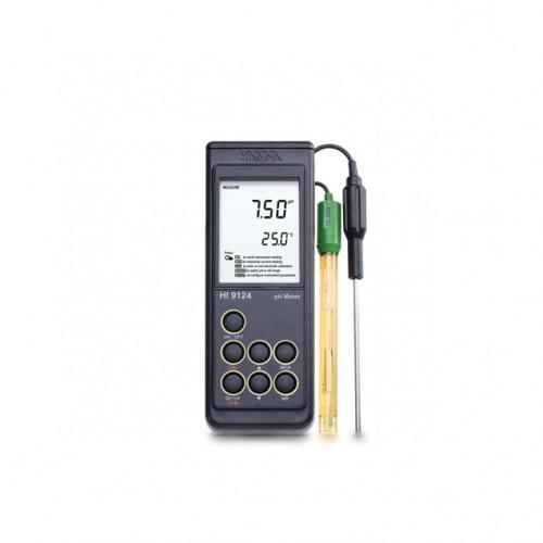 Hanna Instruments HI9124 портативный влагозащищенный рН-метр с внешним датчиком температуры (ГосРеестр)