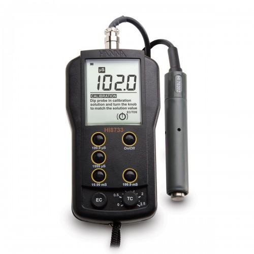 Hanna Instruments HI8733 портативный многодиапазонный кондуктометр (ГосРеестр)