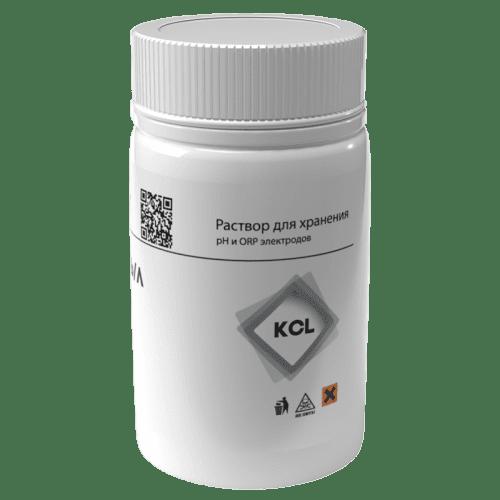Раствор KCL 3 моль/л для хранения электродов pH и ORP 55 мл (вид сбоку)