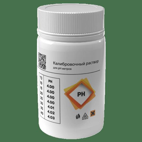 Калибровочный раствор AQUA-LAB PH-4 для калибровки электродов 55 мл (вид сбоку)
